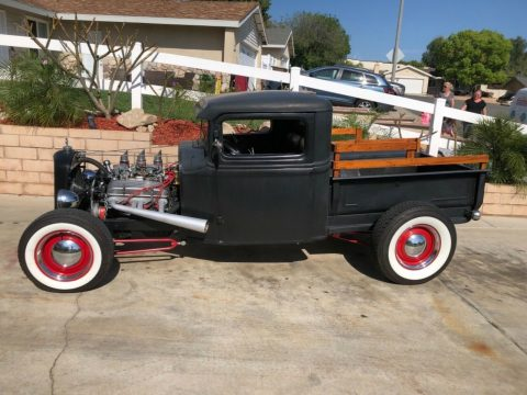 customized 1934 Ford Model A pickup hot rod for sale