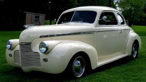 ivory beauty 1940 Coupe Super Deluxe Steel hot rod for sale