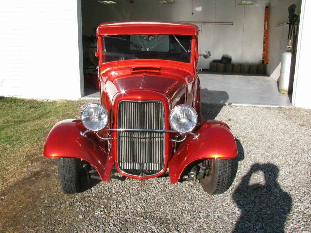 red beauty 1934 Ford pickup hot rod