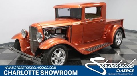 shiny 1930 Ford Model A Pickup hot rod for sale