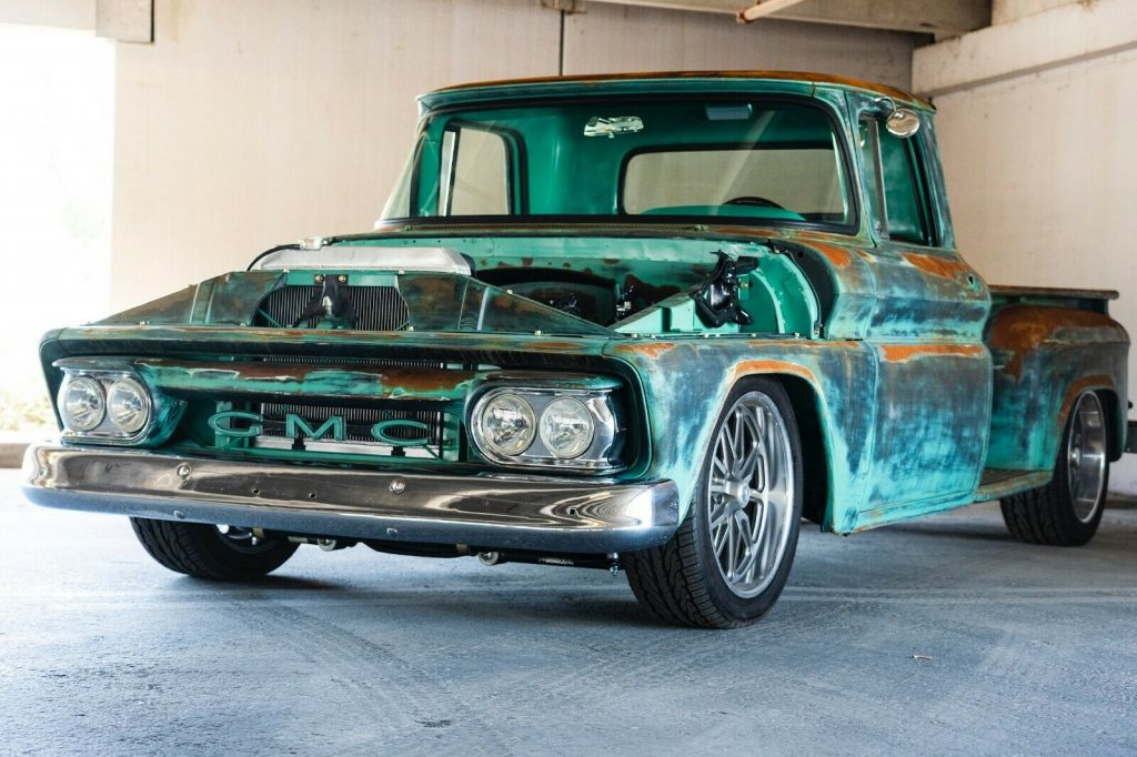 badass 1963 GMC pickup hot rod