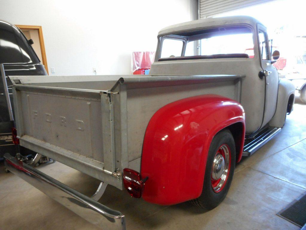 project 1956 Ford F 100 Big Window pickup hot rod