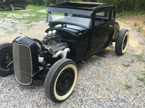 chopped 1928 Ford Model A hot rod for sale