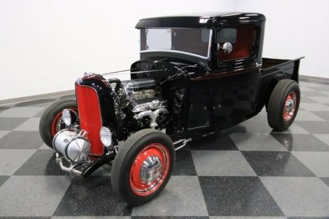 black badass 1932 Ford Pickup hot rod for sale