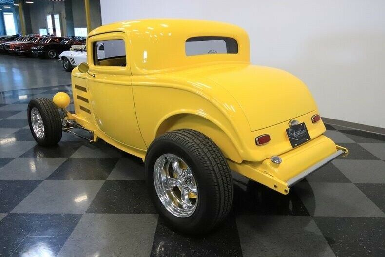 shiny 1932 Ford Coupe hot rod