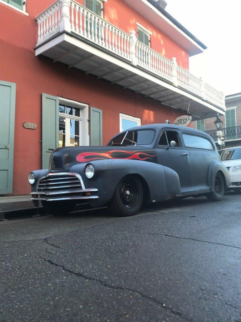 former ambulance 1948 Chevrolet Delivery hot rod