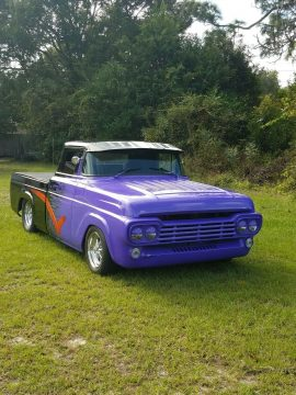 restored 1958 Ford F 100 pickup hot rod for sale