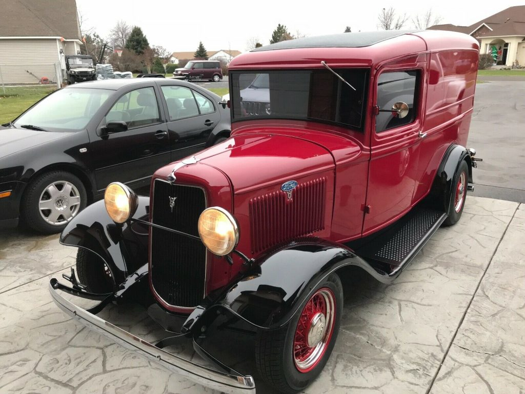 low miles 1934 Ford Panel Truck hot rod